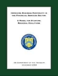 Improving Business Continuity in the Financial Services Sector