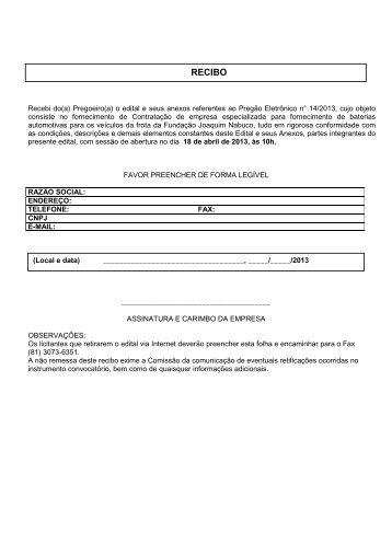 PG 09 13 Baterias Automotivas - Fundação Joaquim Nabuco