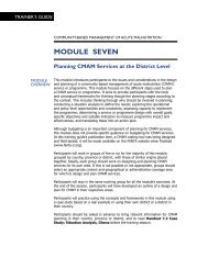 Module 7. Planning CMAM Services at the District Level - Food and ...