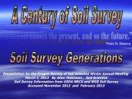 Presentation for the Oregon Society of Soil Scientist Winter Annual ...