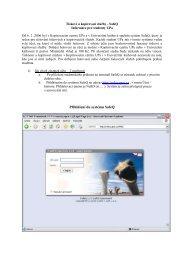 Přihlášení do systému SafeQ - Dokumenty