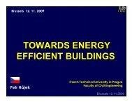 TOWARDS ENERGY EFFICIENT BUILDINGS - PolSCA