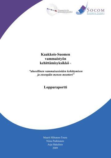 Loppuraportti - Socom