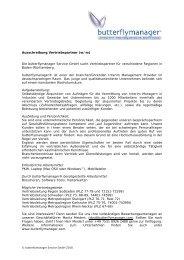Ausschreibung Vertriebspartner (w/m) Die butterflymanager Service ...