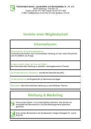 Vorteile einer Mitgliedschaft Informationen - Fachverband Garten ...
