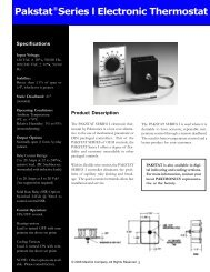 Pakstat Series l Electronic Thermostat
