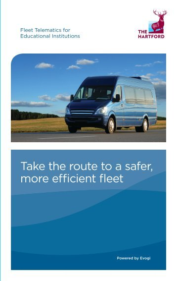 Fleet Telematics for Educational Institutions Flyer - The Hartford