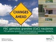 Atnaujinto FSC gamybos grandies standarto ... - NEPCon