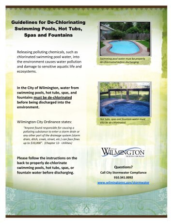 Guidelines for De-Chlorinating Swimming Pools ... - City of Wilmington