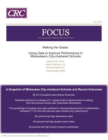 Making the Grade: Using Data to Improve Performance in ...