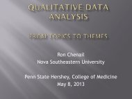 Qualitative Data Analysis From Topics to Themes