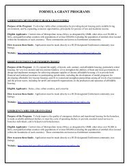 Community Development Block Grant (CDBG) - HUD
