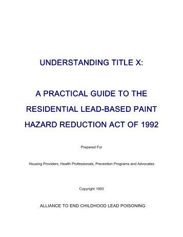 Understanding Title X: A Practical Guide to the Residential ... - RST2