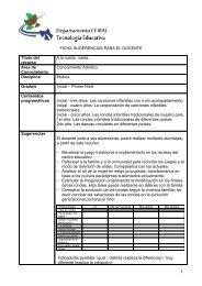 FICHA SUGERENCIAS PARA EL DOCENTE Título ... - Portal Ceibal