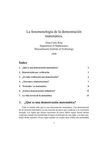 La fenomenologia de la demostracion matematica.pdf - Cosmofisica