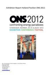 Exhibition Report Holland Pavilion ONS 2012 - IRO