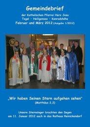 2012 - 1. Gemeindebrief Feb+Mrz Rev. 6 - Katholische ...