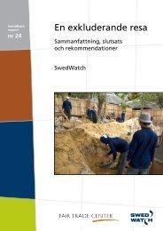 Sammanfattning och rekommendationer - Swedwatch