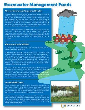 Stormwater Management Ponds - Oakville