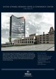 hilton istanbul bomonti hotel & conference center ... - IMEX America