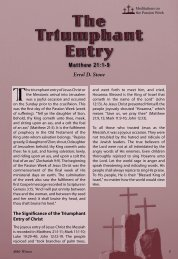 The Triumphant Entry - Bible Witness