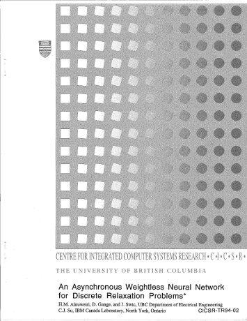 cicsr-tr94-002 - ICICS - University of British Columbia