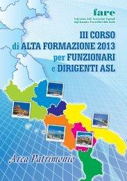 III CORSO di ALTA FORMAZIONE 2013 per ... - fareonline.it