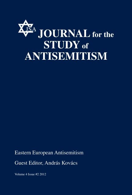 Volume 4 No 2 Journal For The Study Of Antisemitism