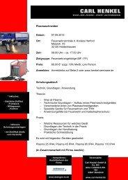 Plasmaschneiden, Fortbildung für Feuerwehr ... - Fire-Circle
