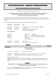Film Australia Procedures - Appendix B: Packaging Instructions