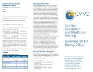 Conflict Resolution and MediationTraining - Western District of ...