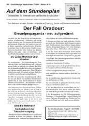 Der Fall Oradour: Greuelpropaganda - neu aufgewärmt