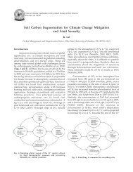 Soil Carbon Sequestration for Climate Change Mitigation and Food ...