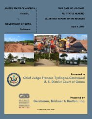 Cover and Table of Content - Guam Solid Waste Receivership