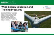 Wind Energy Education and Training Programs - Wind Powering ...