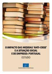 o impacto das medidas 'anti-crise' ea situação social e de emprego