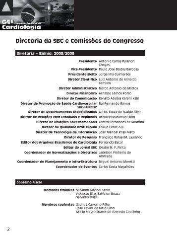 Diretoria da SBC e Comissões do Congresso - 66 Congresso ...
