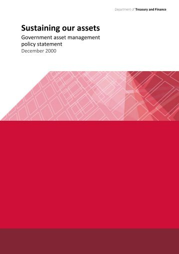Government asset management policy statement - Department of ...