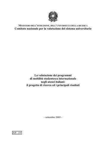 La valutazione dei programmi di mobilità studentesca internazionale ...