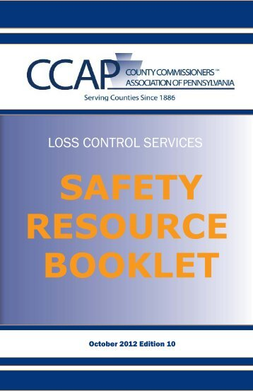 Safety Resource Booklet - County Commissioners Association of ...