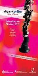 Gelsenkirchen Oktober 2012 - Klezmerwelten