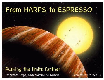 From HARPS to ESPRESSO