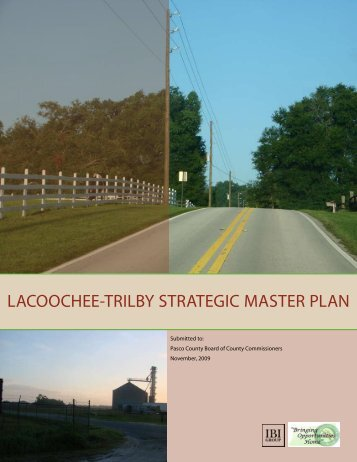 lacoochee-trilby strategic master plan - Pasco County Government