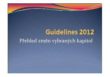 Guidelines pro diagnostiku a léčbu MM 2012 – přehled změn