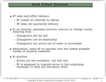 Best Effort Delivery Best Effort Delivery - Ace