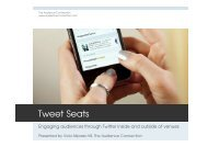 Tweet Seats - Cultural Policy Center