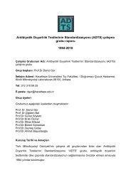 Antibiyotik Duyarlılık Testlerinin Standardizasyonu (ADTS) - Türk ...