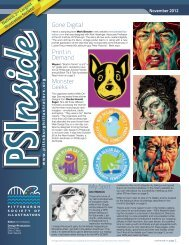 PSI Newsletter - Pittsburgh Society of Illustrators