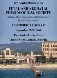 FNPS Australia 2005 (pdf - Fetal and Neonatal Physiological Society