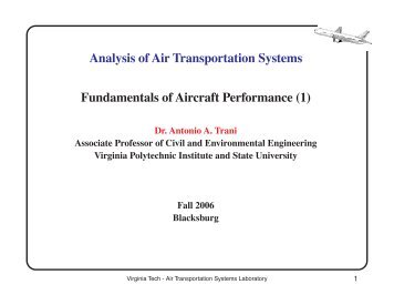 Analysis of Air Transportation Systems Fundamentals of Aircraft ...